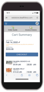 Provisions Mobile Order Entry - Checkout Summary